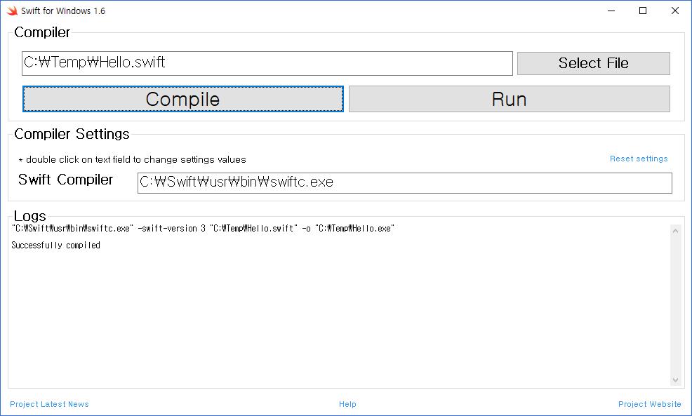 Swift for Windows